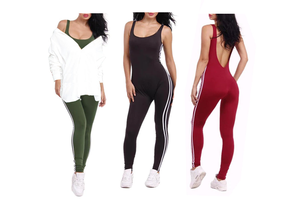 SCOOP NECK SPORTY JUMPSUIT