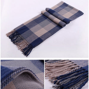 CHECKED WRAP OVERSIZED SCARF