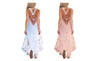 LACE PANELED BEACH DRESS