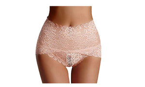 HIGH WAISTED LACE PANTIE BRIEFS