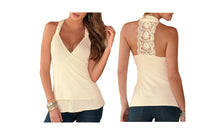 Load image into Gallery viewer, LACE BACK HALTERNECK TOP