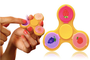 ONE,TWO OR THREE FIDGET SPINNERS WITH LIP BALM