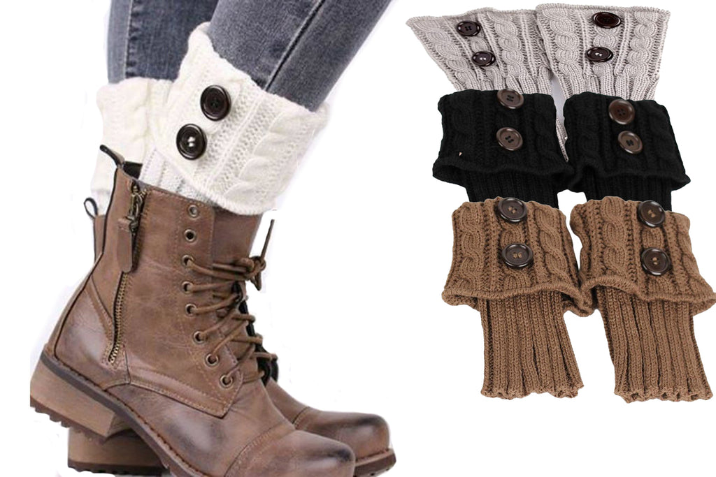 KNITTED BOOT TOPPER AND LEG WARMER