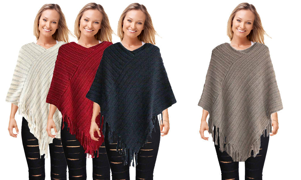 CABLE STYLE LOUNGE PONCHO