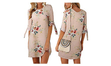Load image into Gallery viewer, LINED FLORAL CASUAL DRESS
