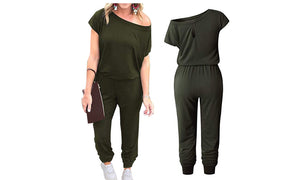 OFF SHOULDER JUMPSUIT - 4 COLOURS