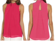 Load image into Gallery viewer, SLEEVELESS CHIFFON BLOUSE- 6 COLOURS