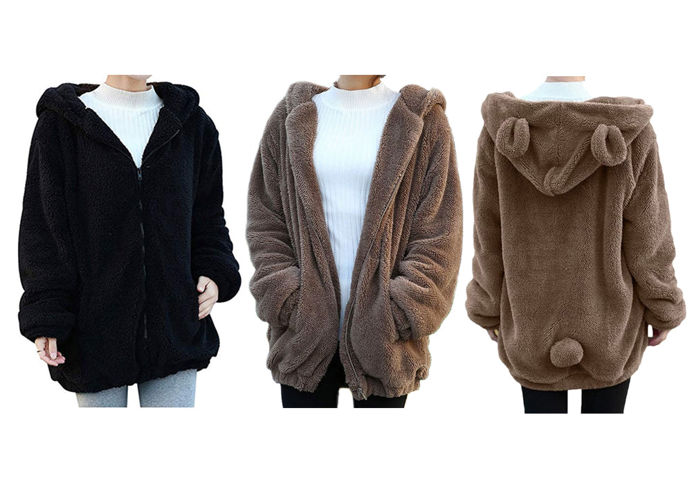 BUNNY HOODED JACKET - 2 colours