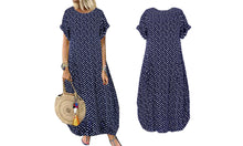 Load image into Gallery viewer, SHORT SLEEVE POLKA DRESS