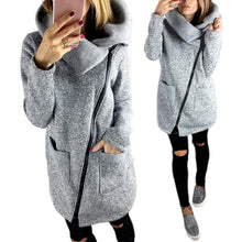 Load image into Gallery viewer, ASYMMETRICAL FLEECE LINED COAT