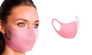 FOUR OR EIGHT PACK BLACK, GREY OR PINK FACE COVERINGS