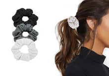 Load image into Gallery viewer, 3 PACK TEXTURED HAIR SCRUNCHIES