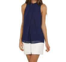 Load image into Gallery viewer, SLEEVELESS CHIFFON BLOUSE