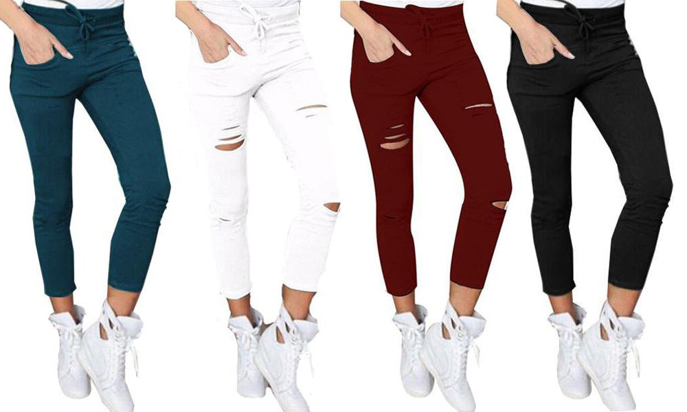 High waist stretch pants - Two Designs