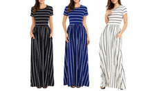 Load image into Gallery viewer, STRIPED EMPIRE MAXI DRESS