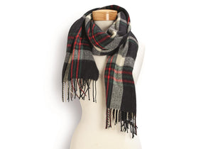 BUTTON UP TARTAN SCARF