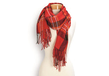 Load image into Gallery viewer, BUTTON UP TARTAN SCARF