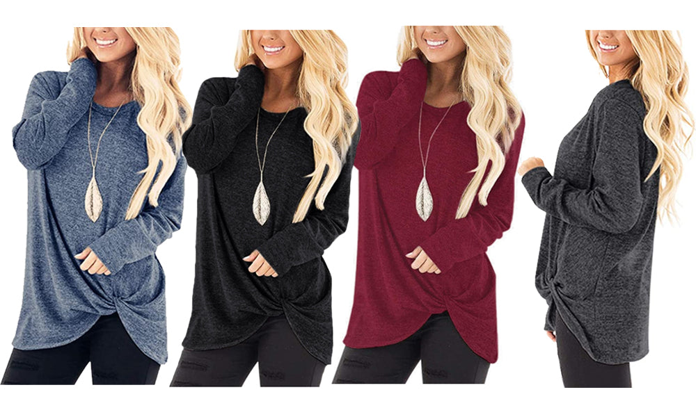 KNOT FRONT TOP - 4 COLOURS