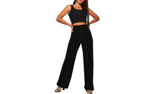 Load image into Gallery viewer, HIGH WAIST PALAZZO TROUSERS