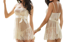 LACE NIGHTIE WITH THONG