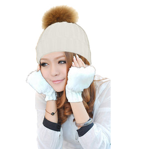 GABBIE POM-POM HAT + GLOVES SET