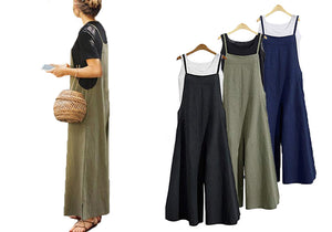 WIDE LEG JUMPSUIT- 3 COLOURS