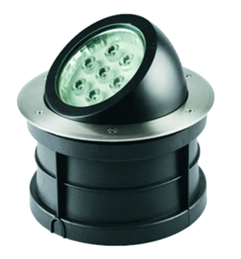 LED Ground Light - Tiltable 18 Watt Round (IP67)