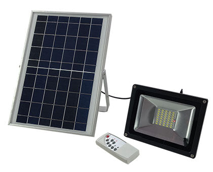 Remote Controlled Solar LED Floodlight - 10W Multi-Function