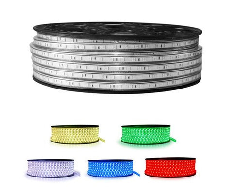 220V LED Strip Light - Warm White, Cool White, Blue, Red, Yellow, Green, Ice Blue, Gold, Pink, Violet, Rose Red