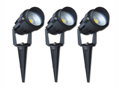 LED Garden Lights - 3 x 6W LED Spike Kit
