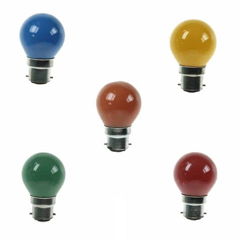 1W LED Golf Ball - Mixed Colour 5 Pack