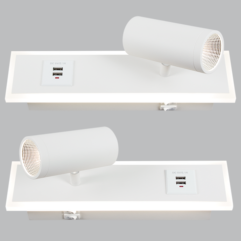 LED Wall Light - Bedside Wall Light (2 Pack)