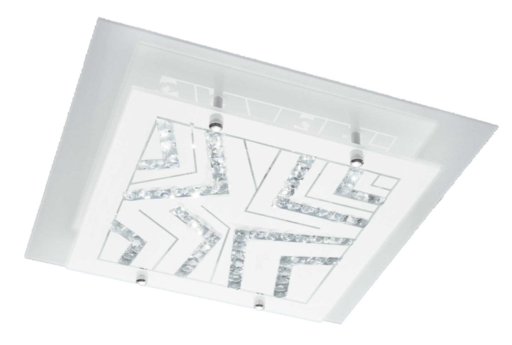 LED Ceiling Light - 12W & 15W Square Polished Chrome