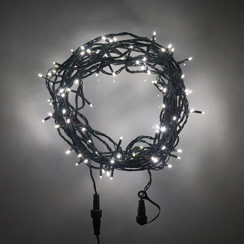 LED Fairy Lights - 12 Meter, Green Cable, Connectable