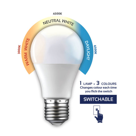 LED Bulb - 3 Step Adjustable CCT 7W