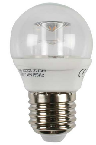 LED Bulb - 3W LED Golf Ball (Dimmable)