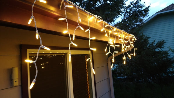 Outdoor Indoor Led Icicle Lights Warm White Future