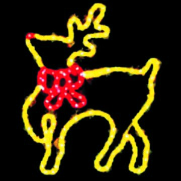 LED Christmas Lights - Bowtie Reindeer Motif