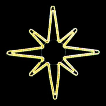 LED Christmas Lights - Shining Star Motif