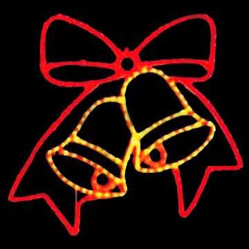LED Christmas Lights - Bowtie Bells Motif