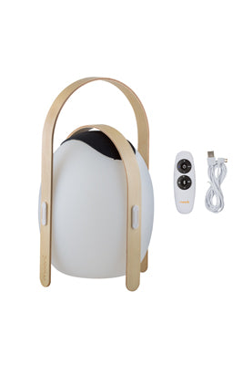 LED Bluetooth Speaker Lantern with Wooden Handle - OVO