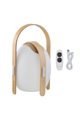 LED Bluetooth Speaker Lantern with Wooden Handle - OVO Mini