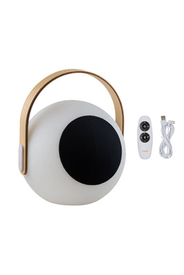 LED Bluetooth Speaker Lantern with Wooden Handle - Eyeball