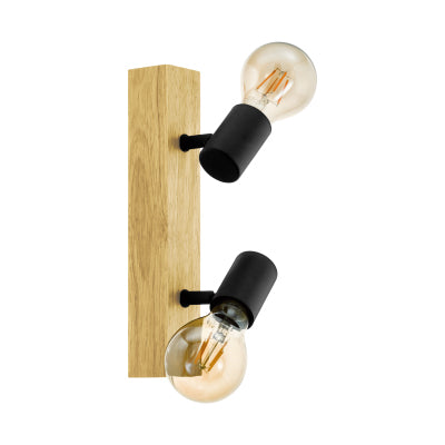 LED Wall / Ceiling Light - Townshend Oak 2 Light