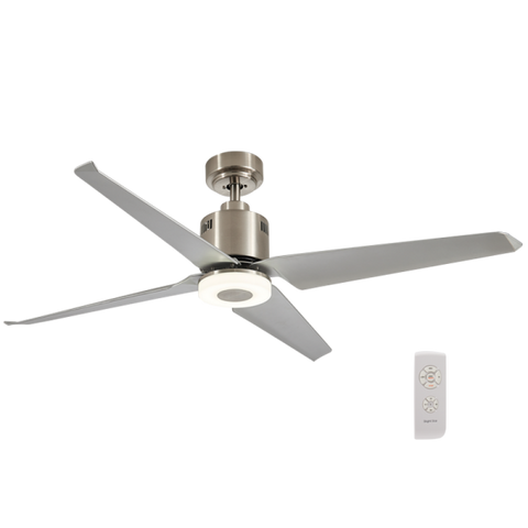 LED Ceiling Fan - 4 Blade, Satin Nickel, 18W LED