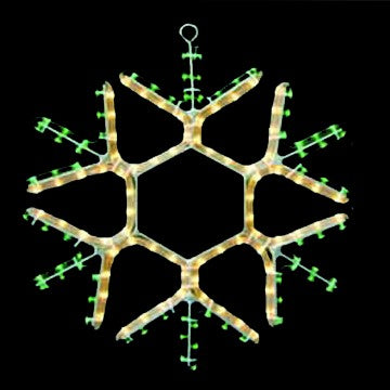 LED Christmas Lights - Snowflake Motif