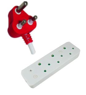 Multi Plug Adaptor - 3 Way with Surge Protection