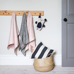Soft textures and patterns are perfect for your little ones room.