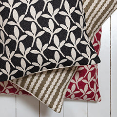 Beautiful merino wool cushions, woven and made in England.
