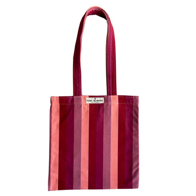 Blazer Stripe Tote Bag in Red